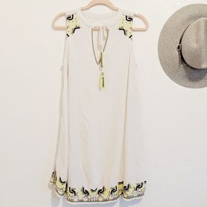 Anthropologie Lou & Grey • Embroided Tassel Dress